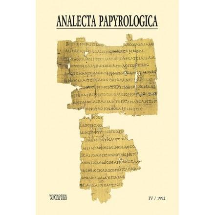 Analecta Papyrologica, IV (1992)