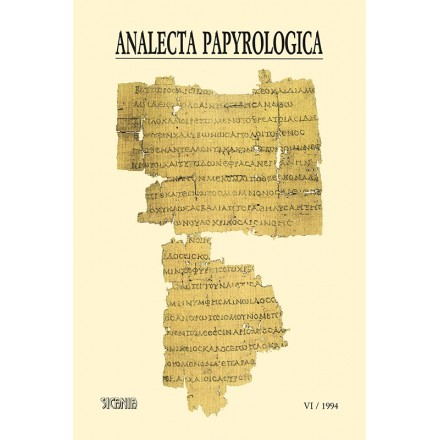 Analecta Papyrologica, VI (1994)