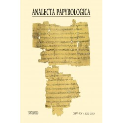 Analecta Papyrologica, XIV-XV (2002-2003)