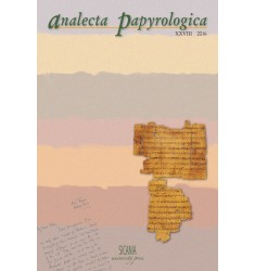 Analecta Papyrologica, XXVIII (2016)