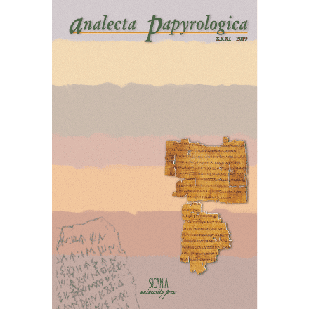 Analecta Papyrologica XXXI (2019)