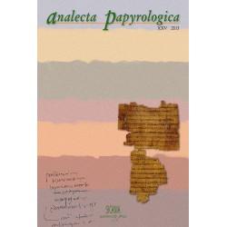 Analecta Papyrologica, XXV (2013)