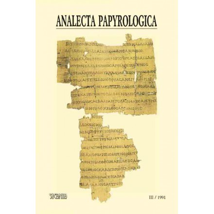 Analecta Papyrologica, III (1991)